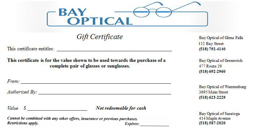 Bay Optical - Optometry in Saratoga Springs, NY US Bay